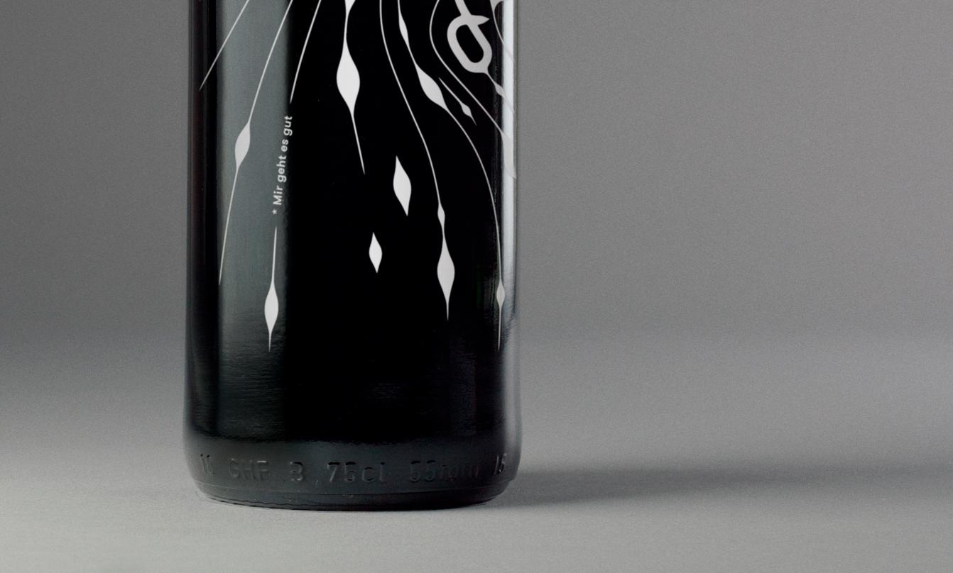 Detail Siebdruck Flasche