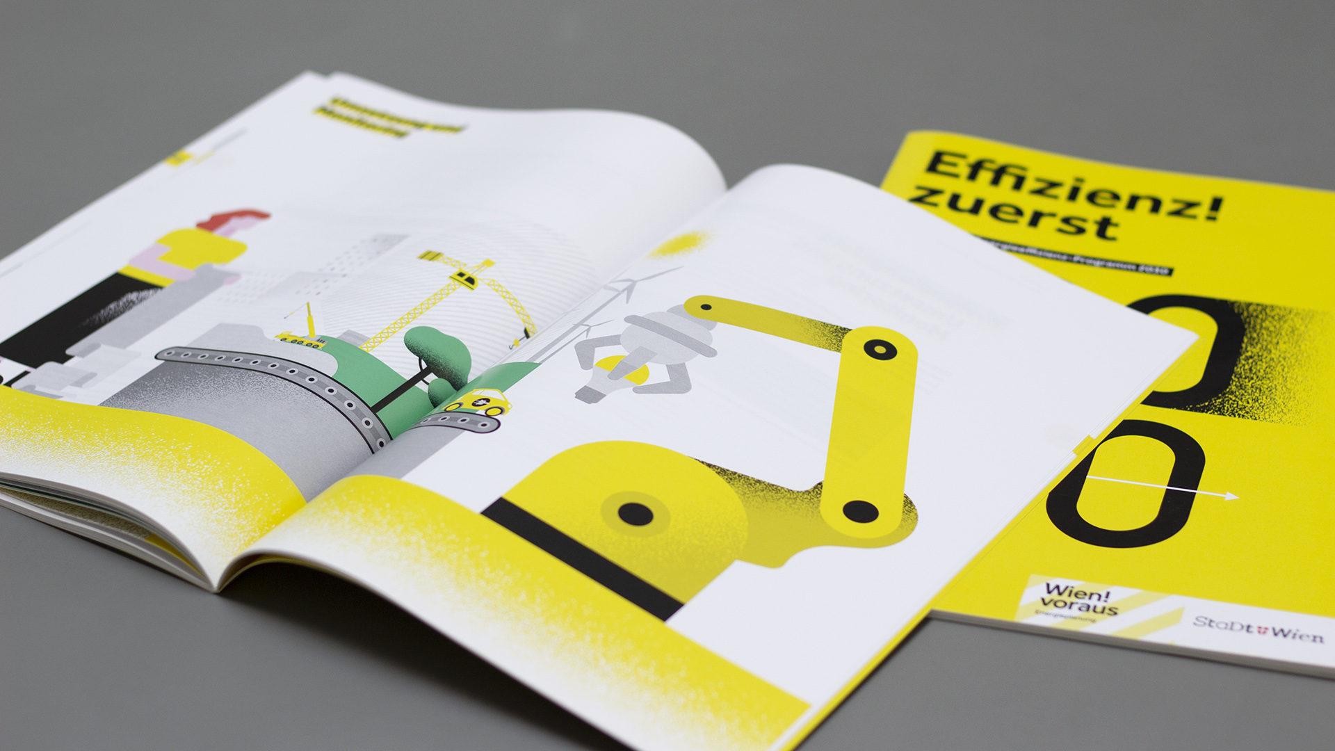 Energiebericht der Stadt Wien, Cover auf dem