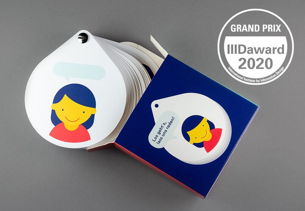 Talking in Symbols Exemplar mit Award Logo